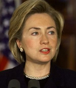 Running for the Senate: Hillary Clinton in 1999.