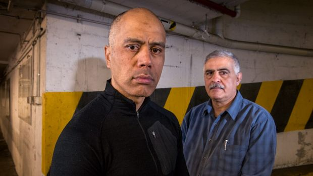 Ford employees Stewart Harris (left) and Paul Boulos will lose their jobs when Ford closes their Victorian plants next week.