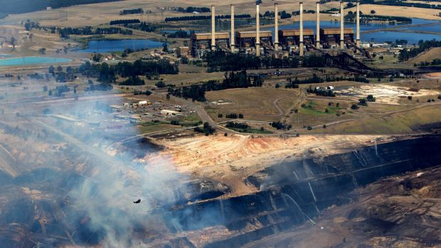 Hazelwood plant and mine from the air.