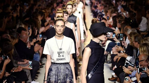 Dior's 'We Should All Be Feminists' T-shirt, from Maria Grazia Chiuri, the first female creative director in the label's ...