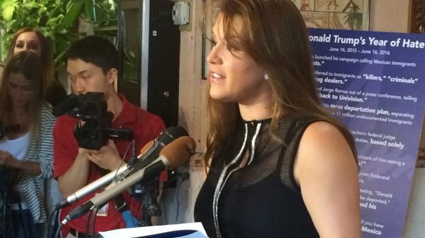 Former Miss Universe Alicia Machado is pushing back against the sexism of Republican presidential candidate Donald Trump.