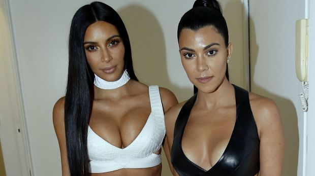 Kim Kardashian West, left, is in big trouble if cleavage is now out of fashion.