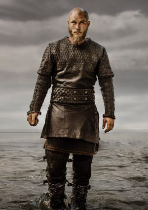 Fimmel plays Viking leader Ragnar Lothbrok with brooding intensity.