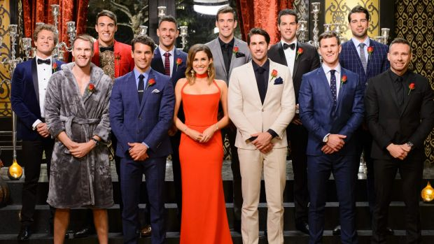 The Bachelorette With All Her Potential Suitors Back At Beginning Of Show