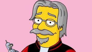 Simpsons creator Matt Groening in animated form.