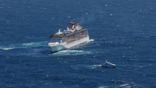 The Carnival Spirit responds to a distress call from Masteka 2 and rescues two female crew members.