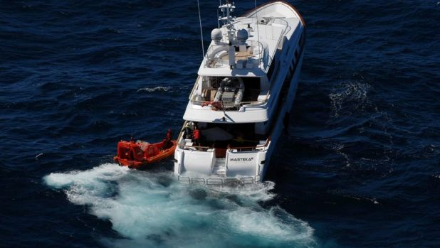The crew on board the Masteka 2 had to be rescued.