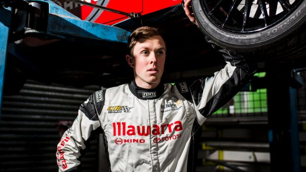 Race car driver Cameron Hill has unfinished business.