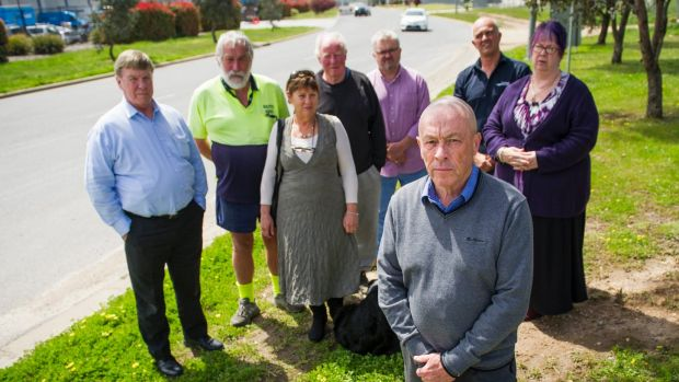 Mike Steele and members of the Hume Traders Association, Dennis Ogden, Stuart Craig, Robyn Barron, John Convine, Peter ...