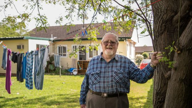 George Ray, 85, has small amounts of money in super and in savings accounts.