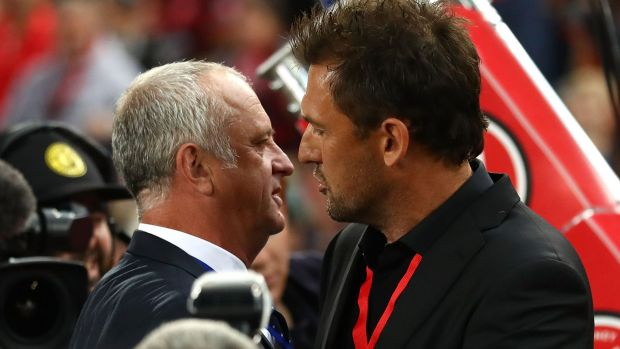 Derby shifting: Sydney FC coach Graham Arnold and his Western Sydney Wanderers counterpart Tony Popovic will have to ...
