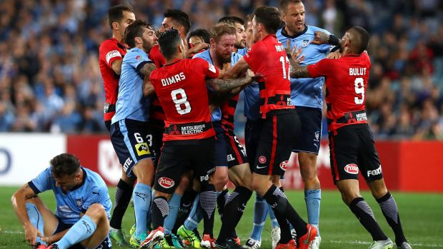 Pushed back: The Sydney derby is likely to be played at Allianz Stadium in round three next season.
