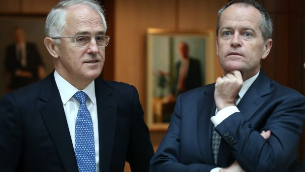 Prime Minister Malcolm Turnbull and Opposition Leader Bill Shorten are at odds over free trade.