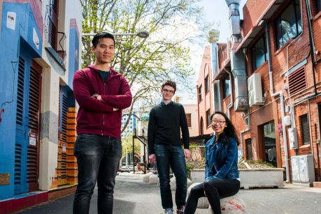 Trajavu founders Reuben Khong, Marshall Clifton and Jeanette Zhang.