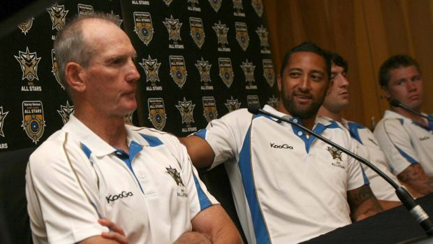 Old ties: Benji Marshall has a strong relationship with Wayne Bennett from their days with the NRL All Stars and Kiwi ...