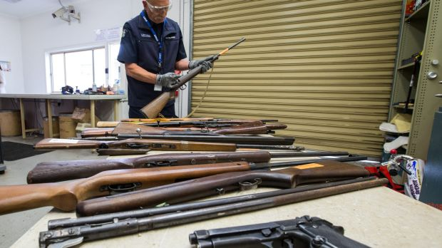 The Victoria Police Forensic Centre in Macleod, where guns are crushed.