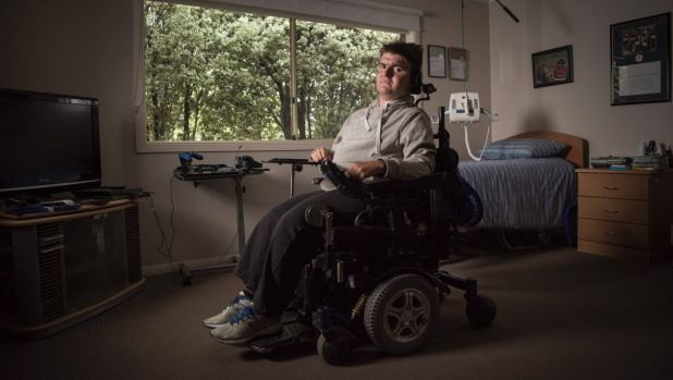 Josh, 21,has muscular dystrophy. Centrelink suspended his disability support pension after his parents missed a deadline ...