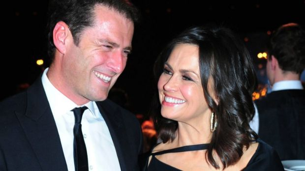 """Karl Stefanovic and Lisa Wilkinson: """"A working relationship, that's all""""."""