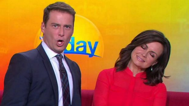 <i>Today</i> show hosts Karl Stefanovic and Lisa Wilkinson.