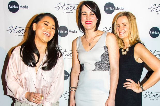 Kylie Mancera, Mikel Medwid and Narah Schubach at the launch of The Store by Fairfax.