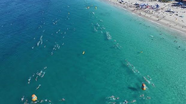 Drones Will Track Open Water Swimmers Competing At Cottesloe Beach On Saturday
