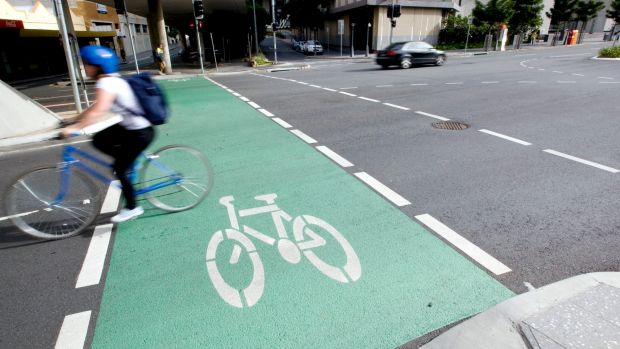 The state government has stalled construction of CBD bike lanes.