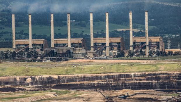 Hazelwood coal mine and power station.