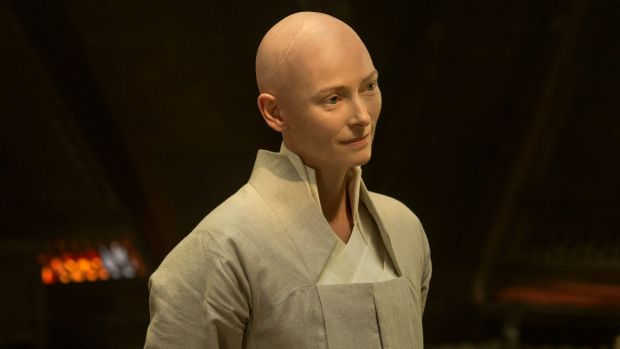 Tilda Swinton as The Ancient One in Marvel's 'Doctor Strange'.