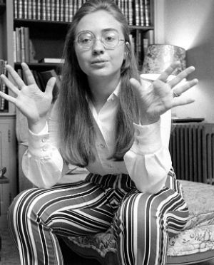 Moving away from conservatism: Hillary Clinton in 1969.