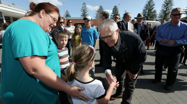 Prime Minister Malcolm Turnbull met locals on the first day of his three day tour of remote South Australia.