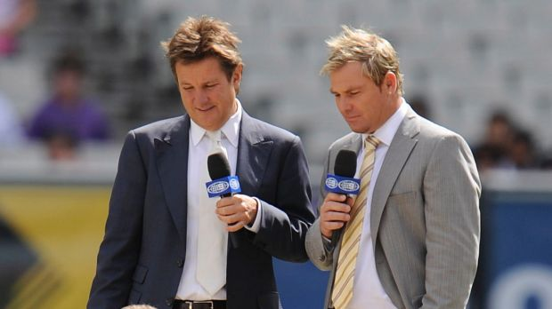 Pitch imperfect: Shane Warne (right) has concerns about the future of Test cricket.
