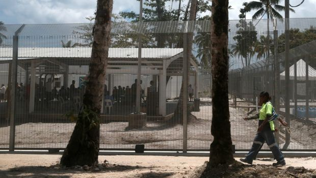 The offshore immigration detention centre on Manus Island.