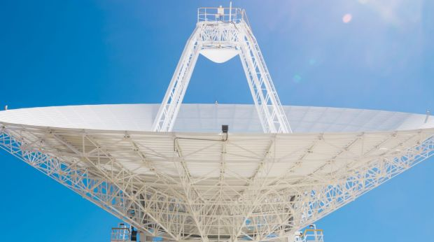 Deep Space Station 36, the new antenna set to be officially opened on Thursday.