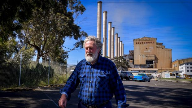 Adrian Curry, who worked at Hazelwood power station for over 40 years, on the day of the closure announcement in ...