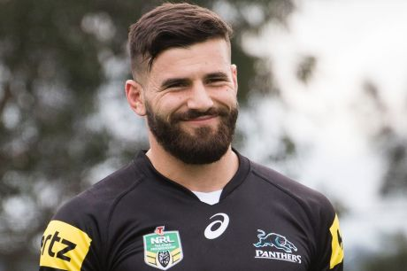 SYDNEY, AUSTRALIA - SEPTEMBER 14: Penrith Panthers player Josh Mansour at a training session on September 14, 2016 in ...