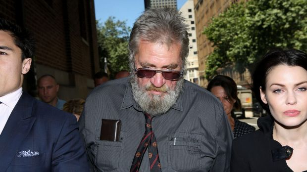 Guilty: Robert John Adams arrives at the NSW Supreme Court on Friday.