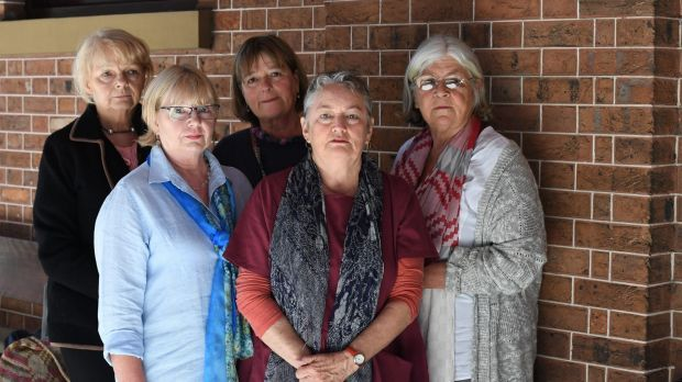 Mary Wallace's close friends Jo Ruppin, Pauline Biddle-Broadfoot, Lyn Bestic, Melissa Usher and Robyn Goozee attended ...