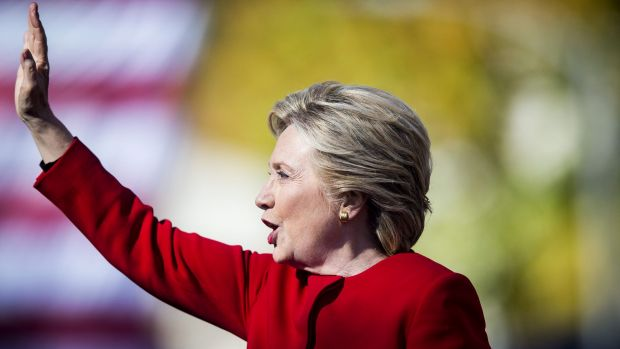 Democratic presidential candidate Hillary Clinton leads Donald Trump by three percentage points among likely voters ...