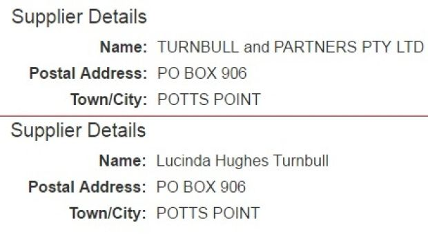 Before and after. The change made to government tender records on Tuesday morning.