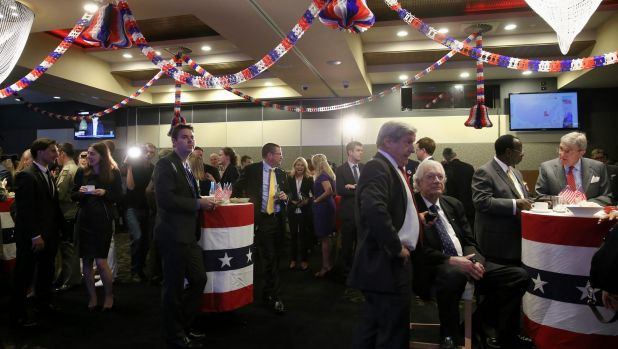 Shock at the US embassy presidential election event at the National Press Club of Australia in Canberra.