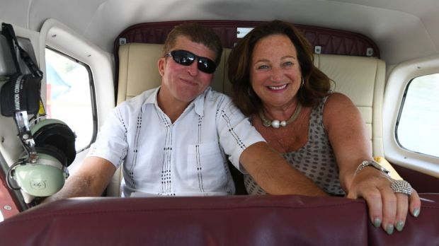 American tourists Jon and Debbie Saxe, from Finger Lakes, took a scenic seaplane flight to Cottage Point.