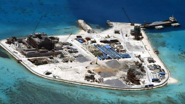 One of the islands China has built up in the South China Sea.
