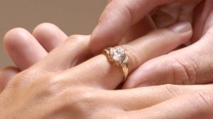 The man asked for the woman to give back her engagement ring after their relationship soured.