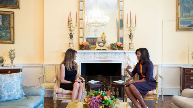 Melania Trump joined outgoing first lady Michelle Obama for tea at the White House, but she may not move in for a while.