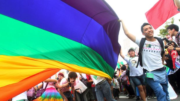 Thousands of gay and lesbian Taiwanese took to the streets in 2014 showing Taiwan's acceptance of alternative lifestyles ...