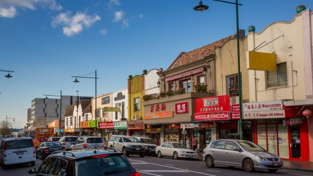Station Street in Box Hill Victoria. The ATO has been carrying out its cash economy campaigns in the local area full of ...