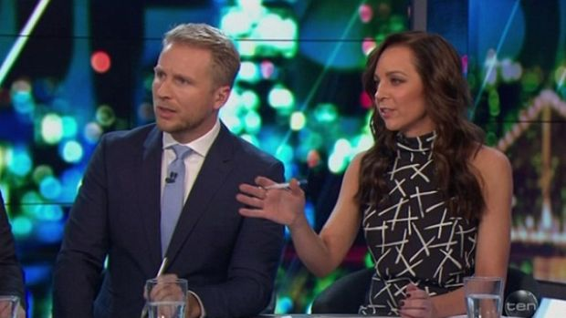 Carrie Bickmore chastising Price over his tone.