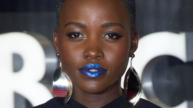 Lupita Nyong'o at the European premiere of <i>Star Wars - The Force Awakens</i>.