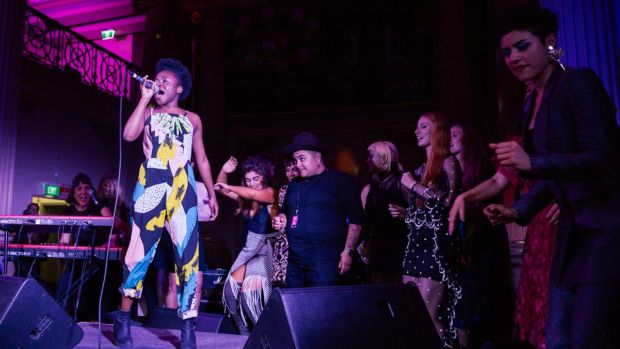 Sampa the Great performs at Melbourne Music Week opening night event <i>Her Sound, Her Story</i>.