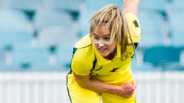 Confident: Ellyse Perry has faith in the security measures put in place by the ICC and Cricket Australia for the Women's ...